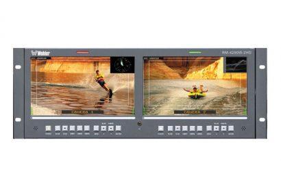 Bandeau 2 moniteurs LCD 9 vidéo SD et HDSDI WHOLER