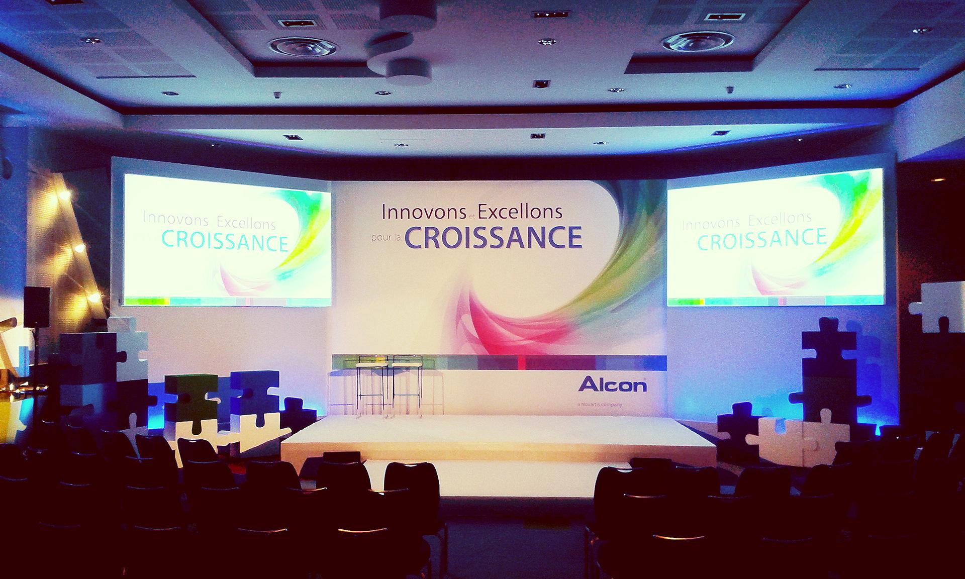 Convention Alcon produite par EGG EVENTS au Radisson Blu Hôtel de Nice