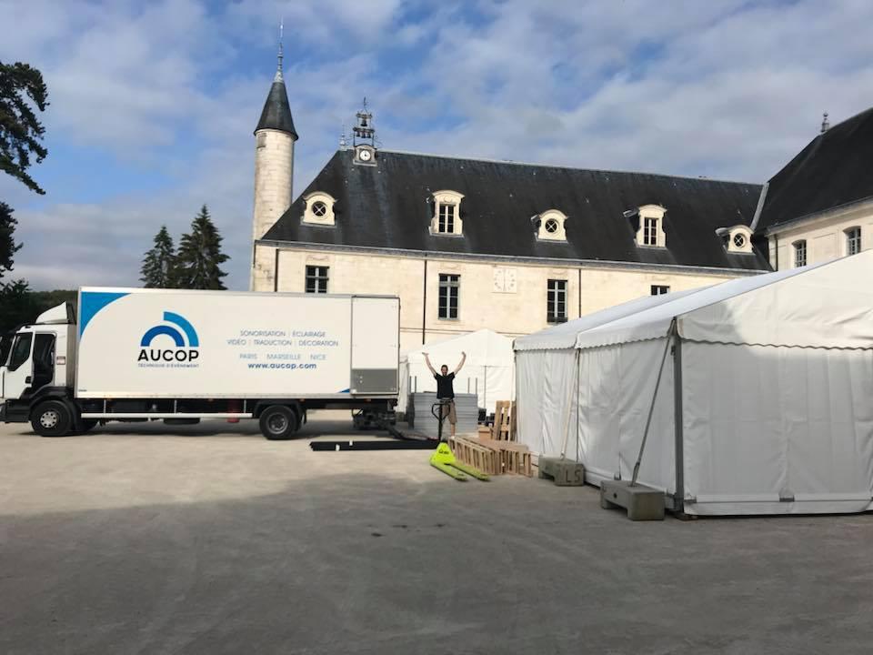 aucop-event-abbaye de valasse-son-eclairage-deco-wissous-audiovisuel-evenement