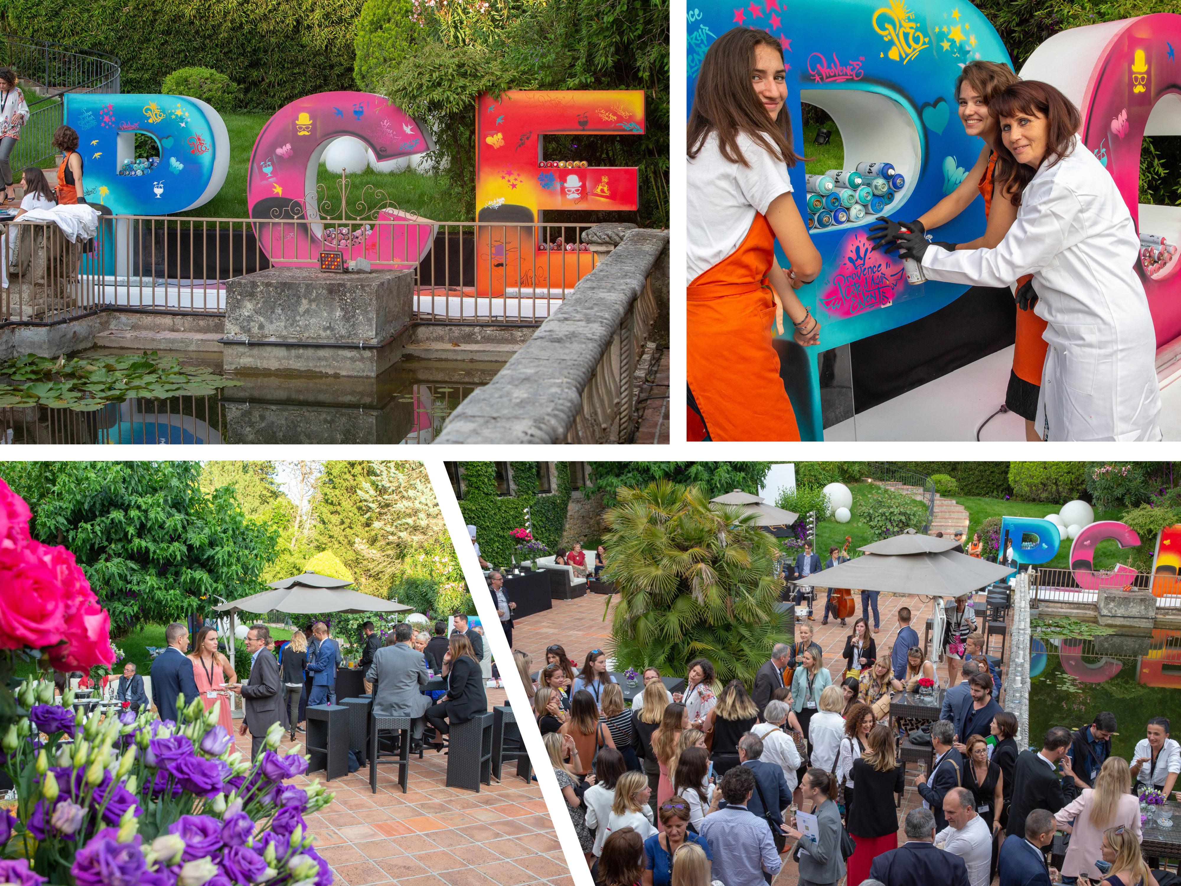 Les 10 ans de Provence Côte d'Azur Events au Park Mougins - Ikebana