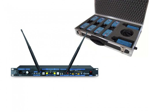 ALTAIR WBS-202 - Centrale Intercom HF 2 Canaux 8 postes ceinture HF - location - materiel - audiovisuel - communication - france - europe - evenement