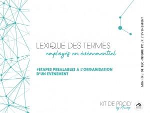 Kit de prod by Aucop - étapes préalables à l'organisation d'un évènement