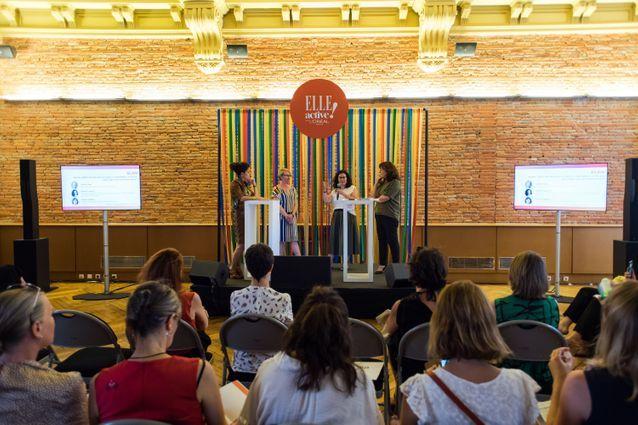 Le forum ELLE Active a Toulouse-aucop-© M. Rondel Presswall En-10-ans-quels-progres-pour-les-femmes-actives