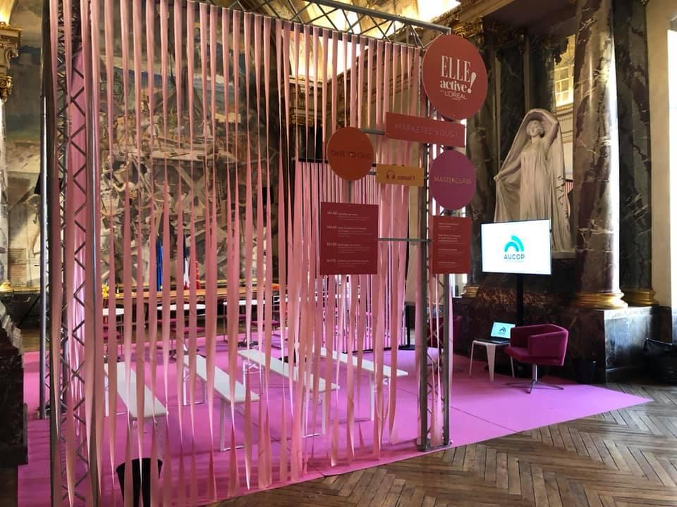 Le forum ELLE Active a Toulouse-evenement-technique et deco-audiovisuel-ateliers-decoration-decors-aucop