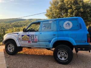 AUCOP sponsor officiel de l'équipage 183 au Rallye Aïcha des Gazelles du Maroc