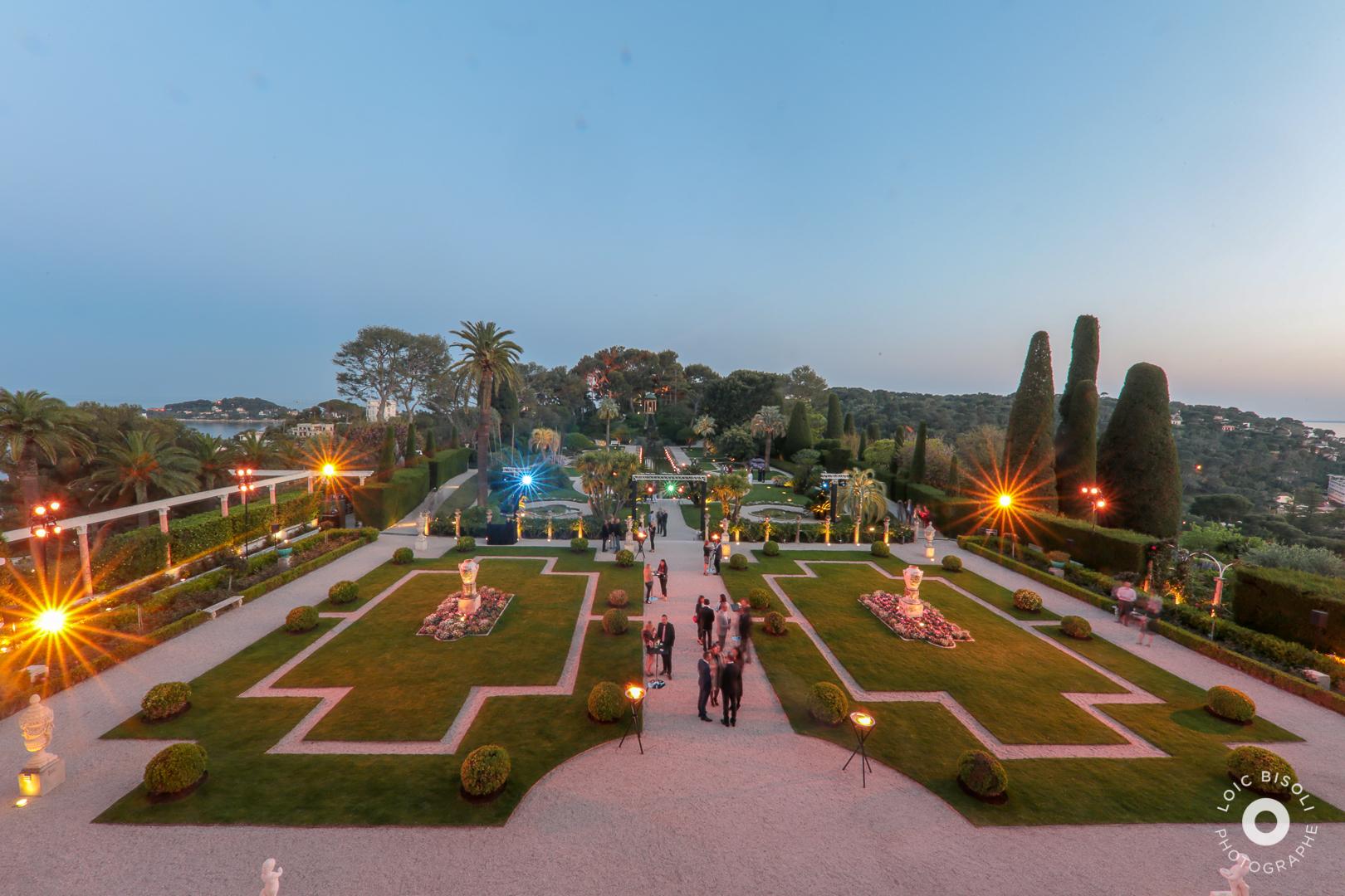 aucop-Villa Ephrussi de Rothschild-Studio Loic Bisoli-facade-nice-soiree-saint jean cap ferrat-evenement-lumieres-deco