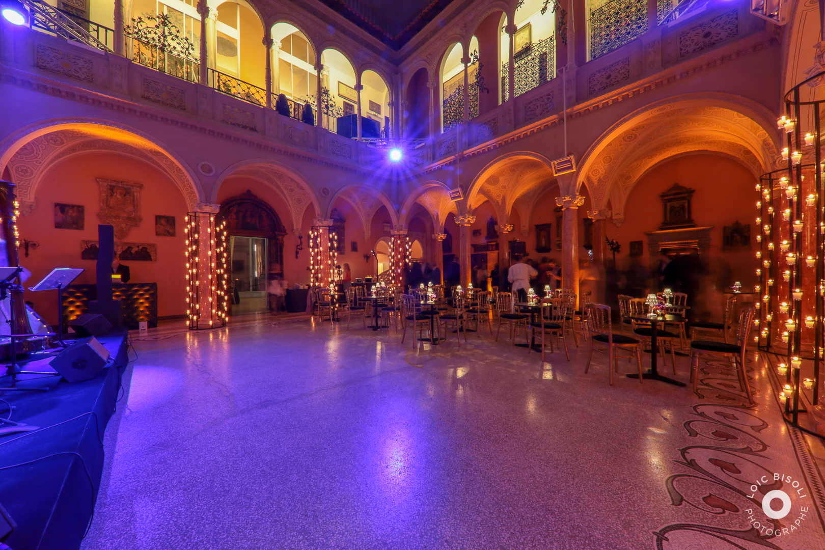 aucop-Villa Ephrussi de Rothschild-Studio Loic Bisoli-facade-nice-soiree-saint jean cap ferrat-evenement-lumieres