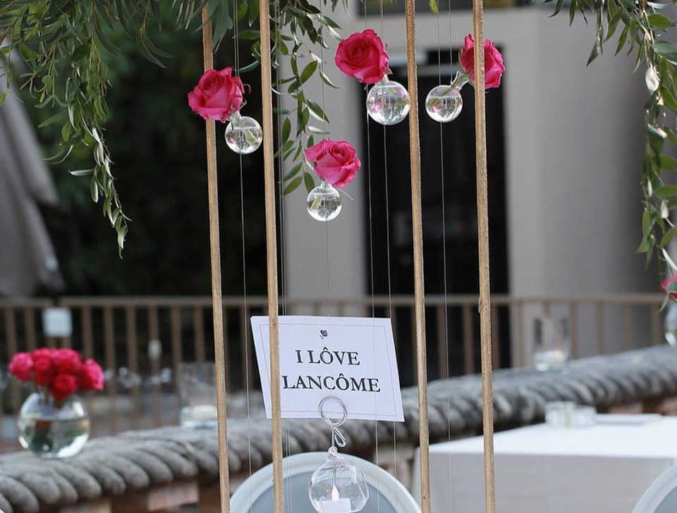 Maison Lancôme-aucop-evenement-lancome-cannes-martinez-deco-son-lumieres-video-decoration-evenementiel