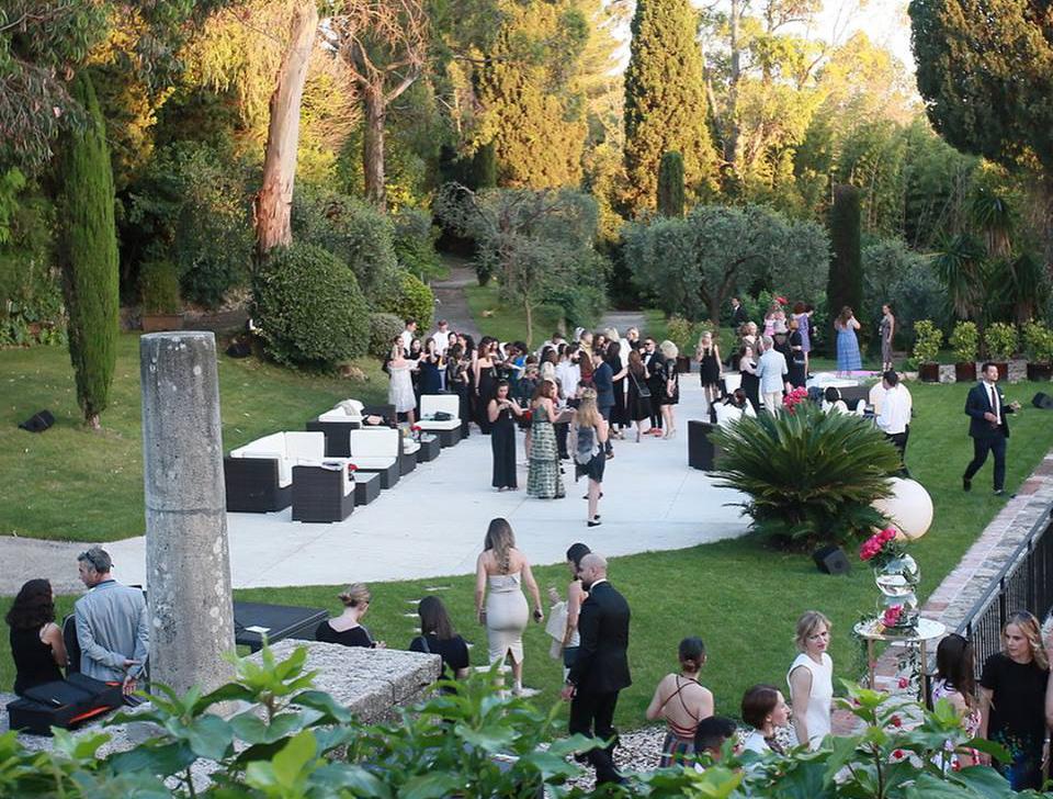 Maison Lancôme-aucop-evenement-lancome-luxe-video-deco-son-lumieres-mougins-park-le-notre