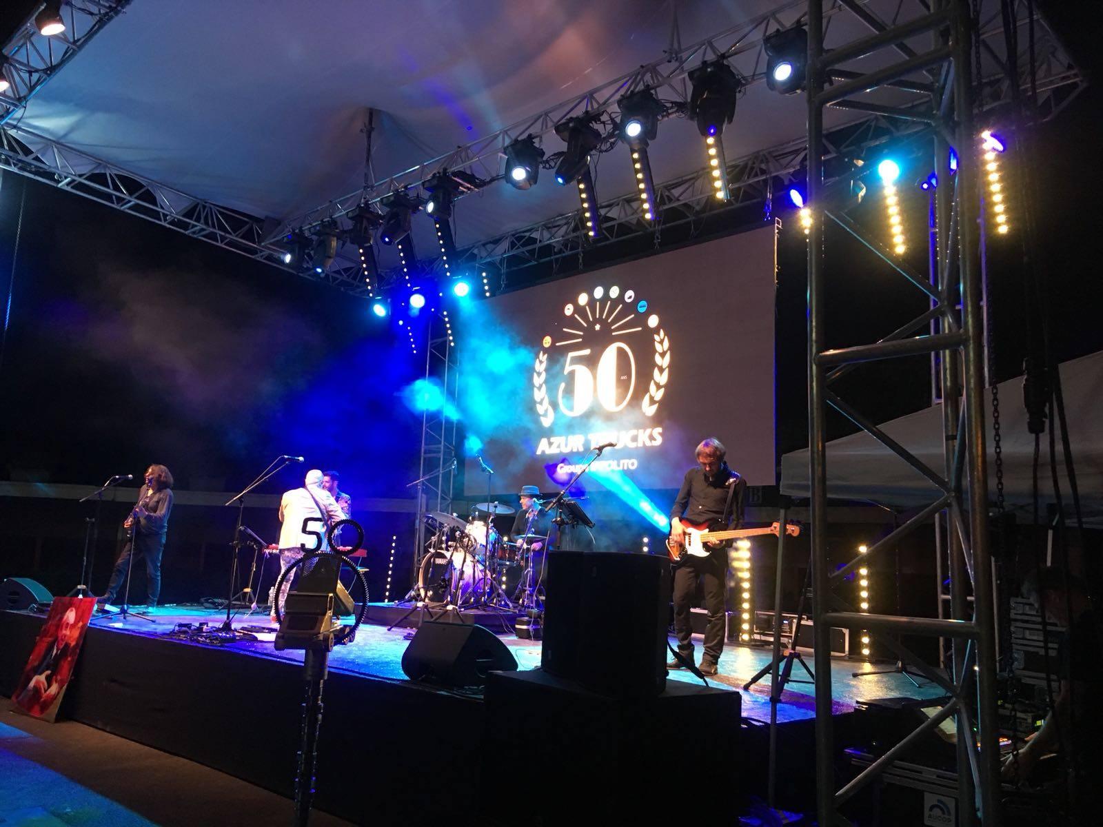 aucop-event-15 juin-azur trucks-groupe ippolito-hippodrome cagnes sur mer-son-eclairage-video-deco-structure-soirée-scene-concert