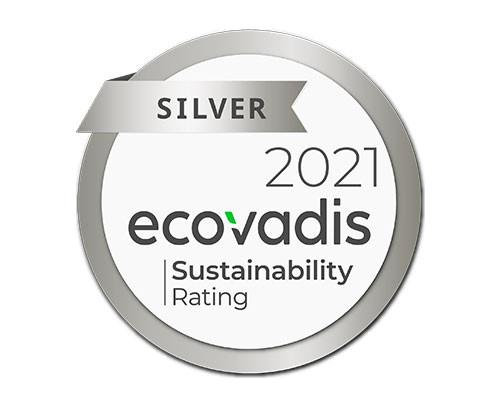 medaille-argent-EcoVadis-2021-aucop-prestataire audiovisuel technique et deco evenementielle