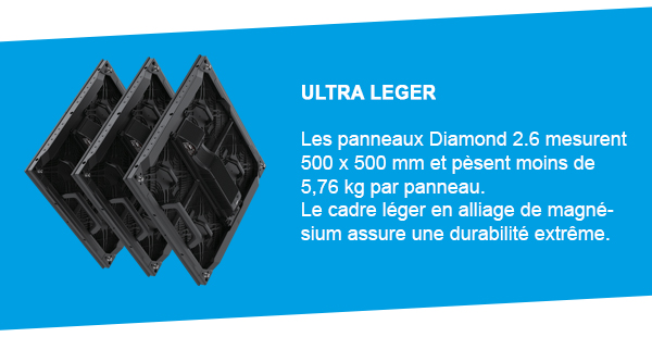 mur de LED DIAMOND 2.6 ROE Creative Display